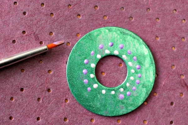 Australian Dot Painted Washer Necklace Craft