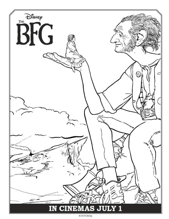 BFG Coloring Sheets Big Friendly Giant With Sophie