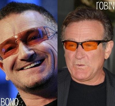 Bono and Robin Williams