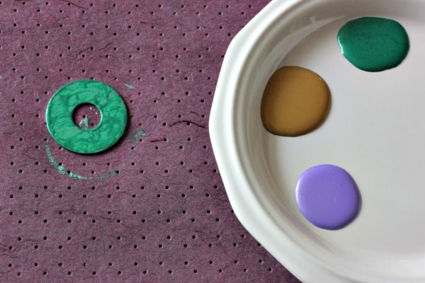 DIY Australian Dot Painted Washer Necklace