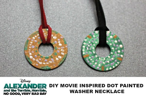DIY MOVIE INSPIRED DOT PAINTED WASHER NECKLACE