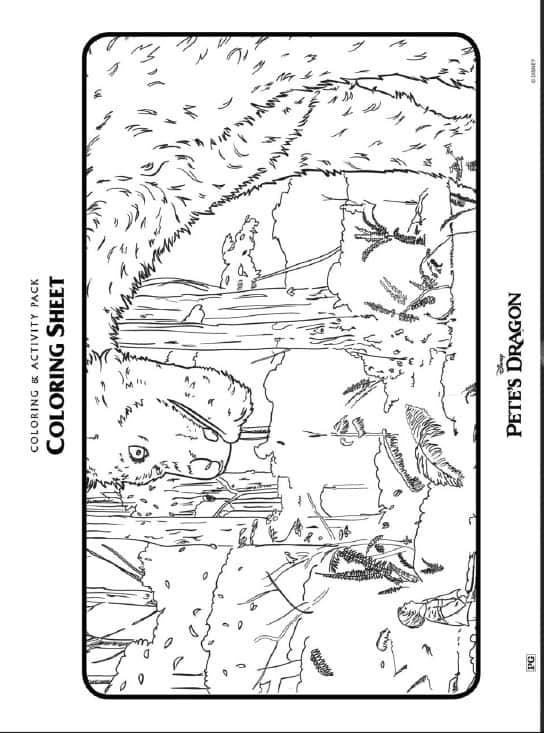 Pete's Dragon Coloring Sheets Free Printables